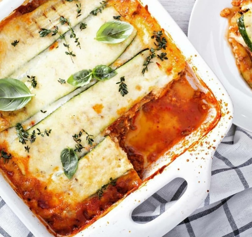 koolhydraatarme lasagne vol met groenten van Lisa