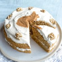 Vegan Carrot Cake and Cashew Icing