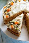 vegan carrot cake cashew frosting