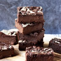 Vegan Sweet Potato Tahini Brownies