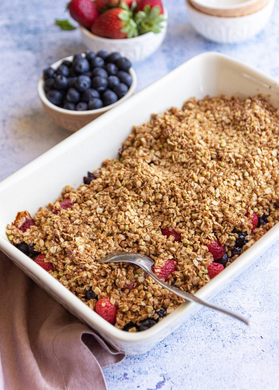 vegan berry crumble nut-free recipe