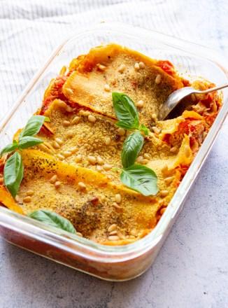 vegan zucchini cashew cheese lasagna
