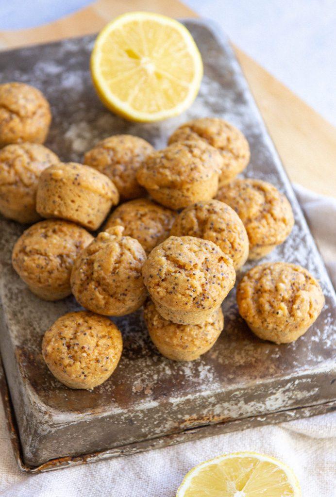 mini vegan lemon muffins recipe