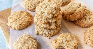 healthy vegan anzac biscuit