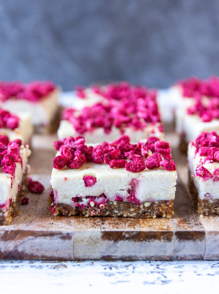 raw vegan cashew hemp slice
