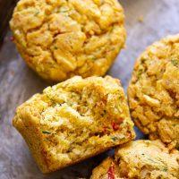 Vegan Savoury Zucchini Muffins
