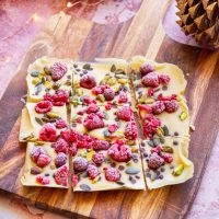 Christmas Vegan White Chocolate Rocky Road