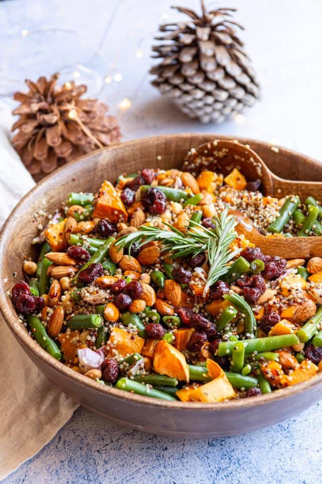 vegan christmas salad recipe idea