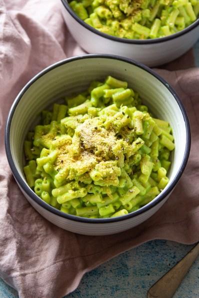creamy Vegan Broccoli Pasta recipe green