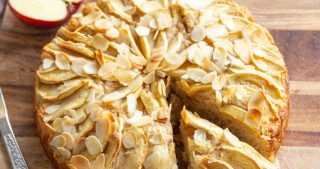 vegan almond apple cake