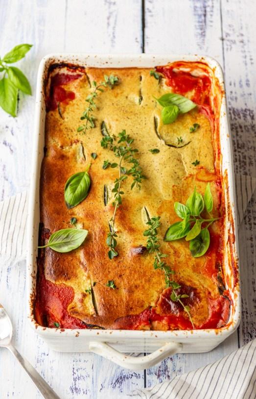 vegan lentil lasagna with zucchini