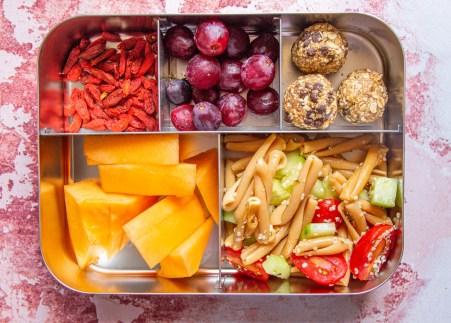 vegan pasta salad as a lunchbox idea