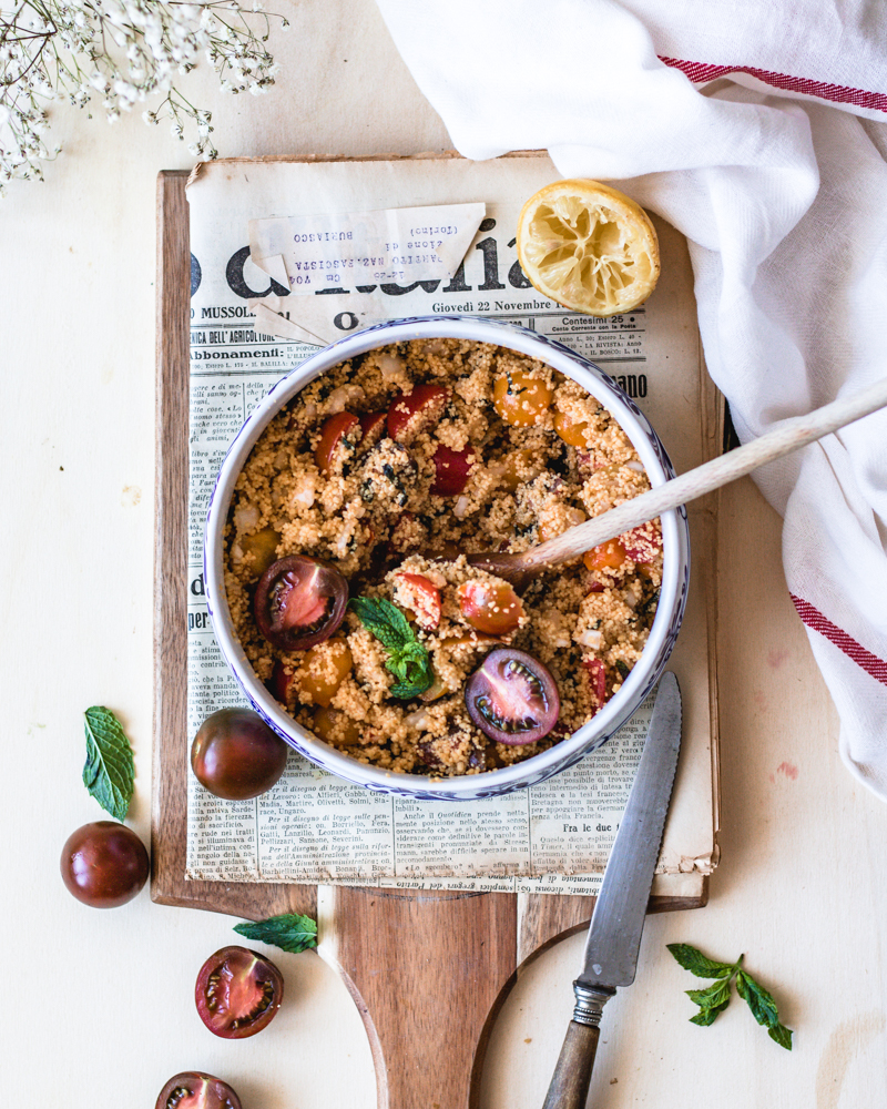 Healthy & Gluten-free no-cook taboule.