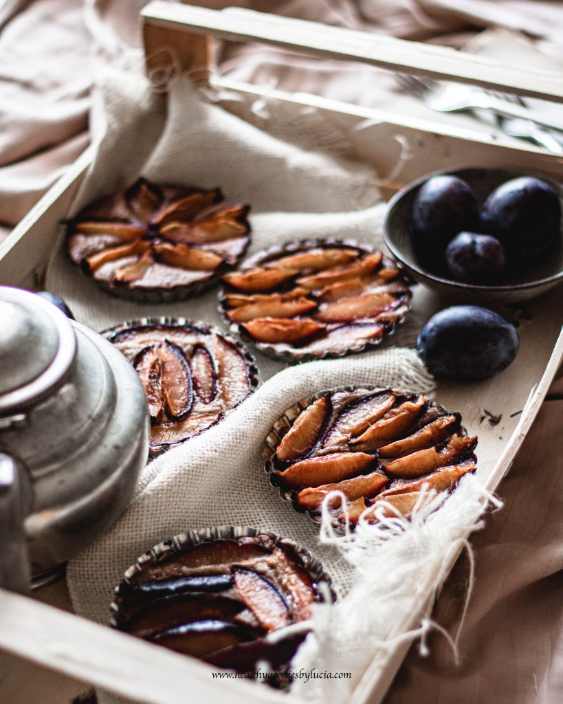 Cup Cake with plums   Healthy Goodies by Lucia