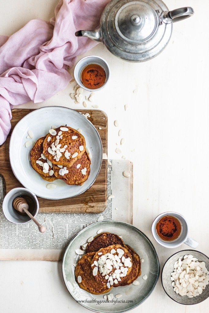 Gluten-free pumpkin pancakes with chickpea flour | Healthy Goodies by Lucia