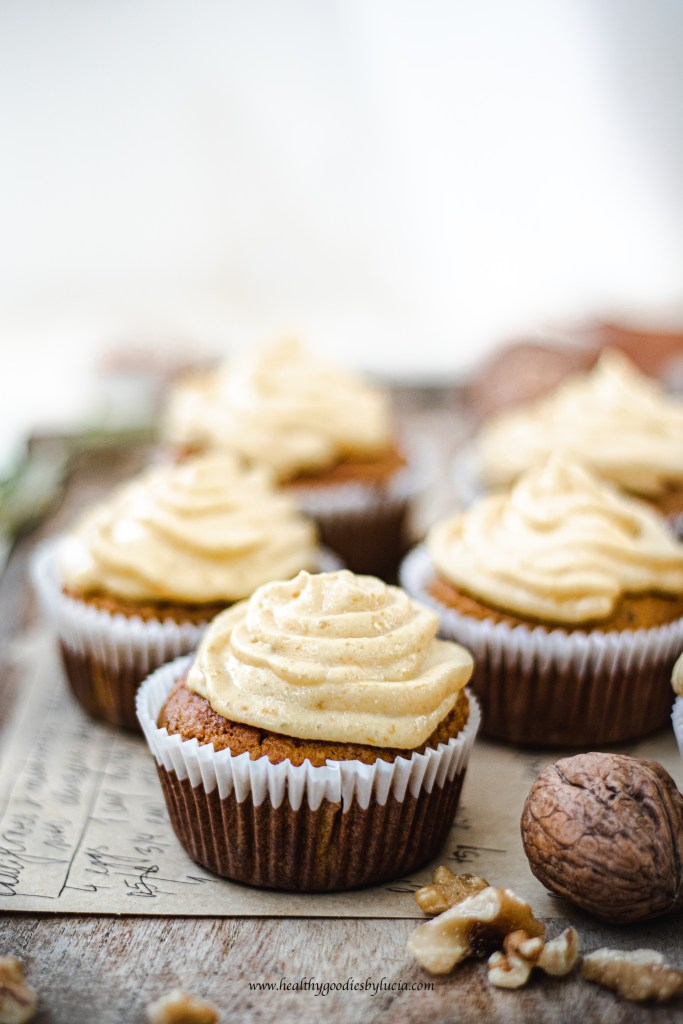 Gluten-free Pumpkin cupcakes with ricotta pumpkin frosting   Healthy Goodies By Lucia
