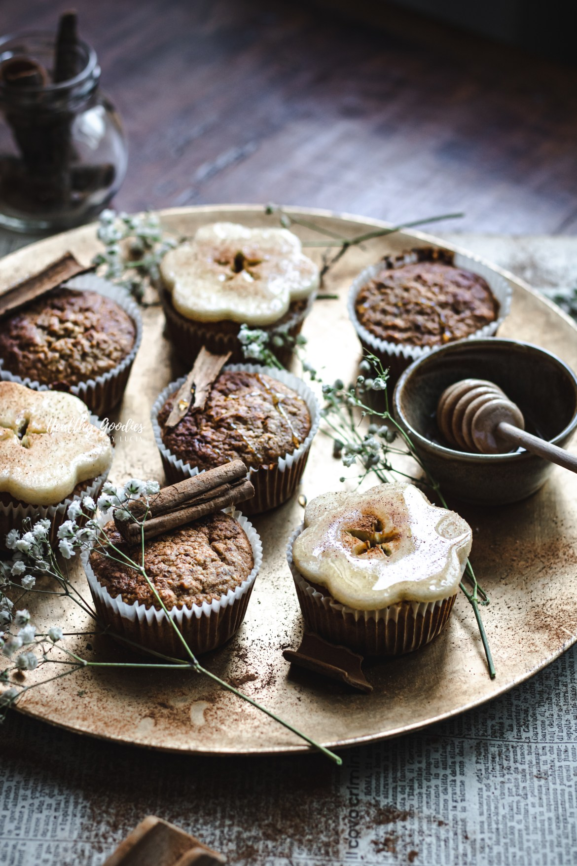 Naturally sweetened Gluten-free Carrot Apple Muffins | Healthy Goodies by Lucia Marecak-0221
