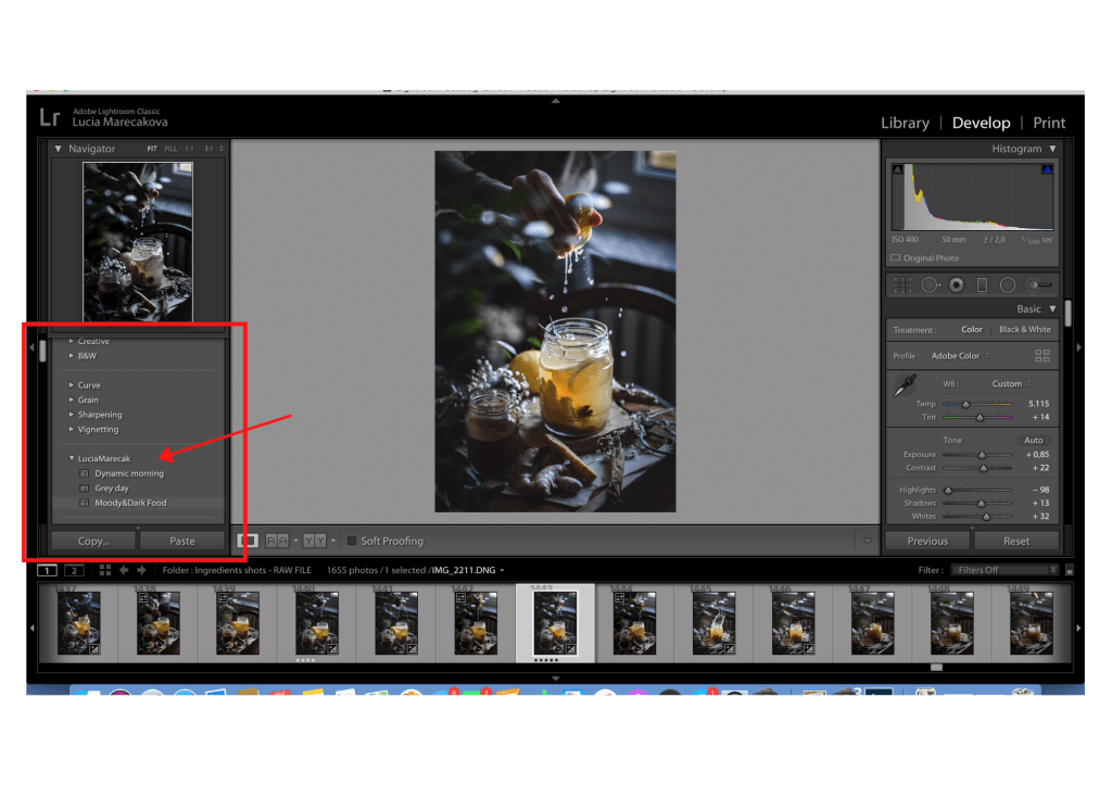 How to create your own presets in Lightroom | Healhty Goodies by Lucia Marecak