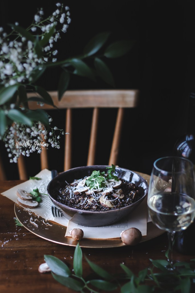 Mushroom Quinoa Risotto | Healthy Goodies by Lucia