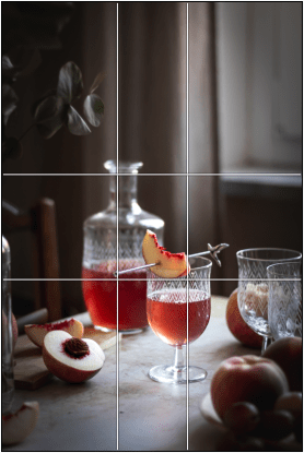 negative space & the Golden Ratio composition - Healthy Goodies by Lucia