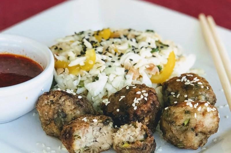 Sesame Cilantro Meatballs