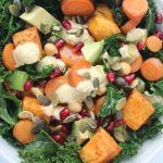 Grünkohl-Salat mit Süßkartoffeln