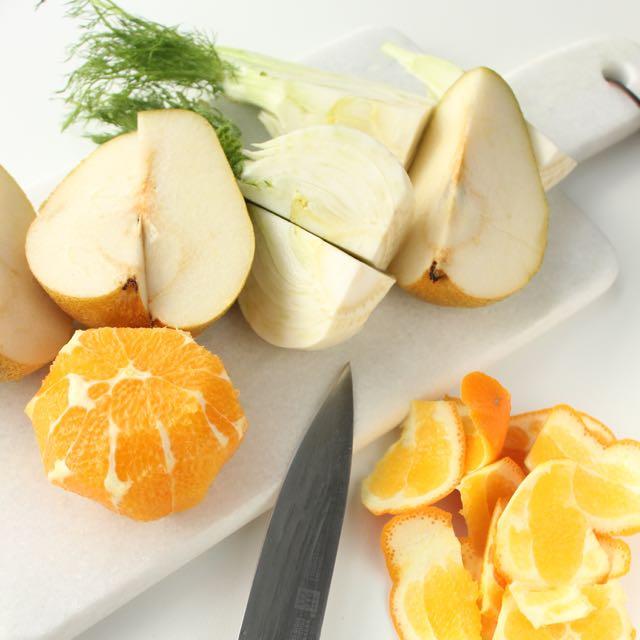Fenchel-Birnen-Orangen-Saft - www.healthyhappysteffi.com