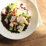 Belugalinsen-Spargel-Salat