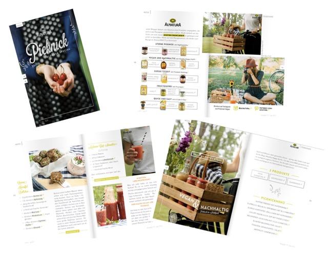 vegan & nachhaltig picknicken - Collage