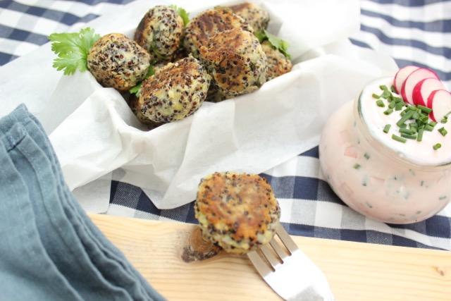 vegan & nachhaltig picknicken - Kartoffel-Quinoa-Bällchen - www.healthyhappysteffi.com