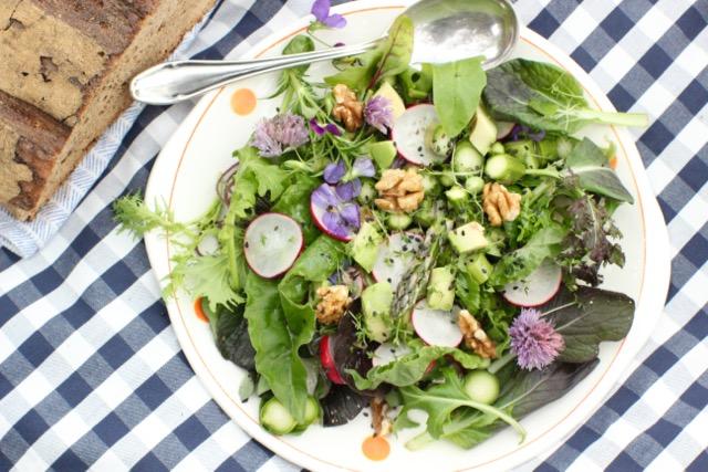 vegan & nachhaltig picknicken - Wildkräutersalat - www.healthyhappysteffi.com