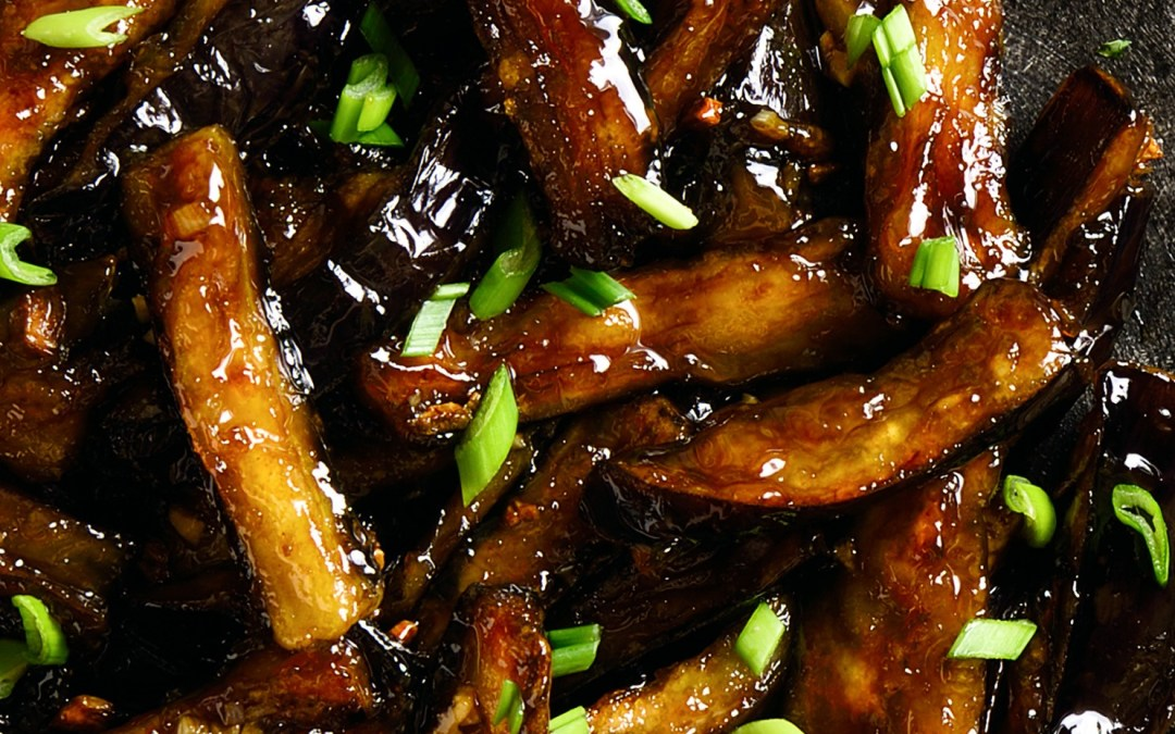 Eggplant with Ginger and Scallions
