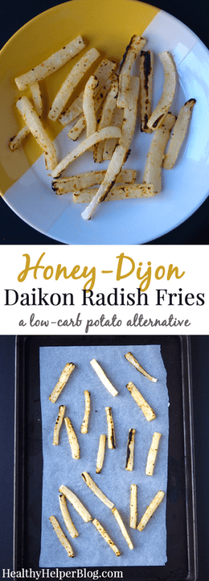 Honey-Dijon Daikon Radish Fries