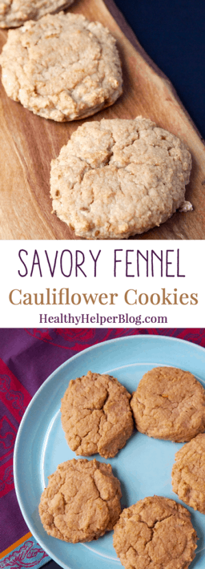 Savory Fennel Cauliflower Cookies