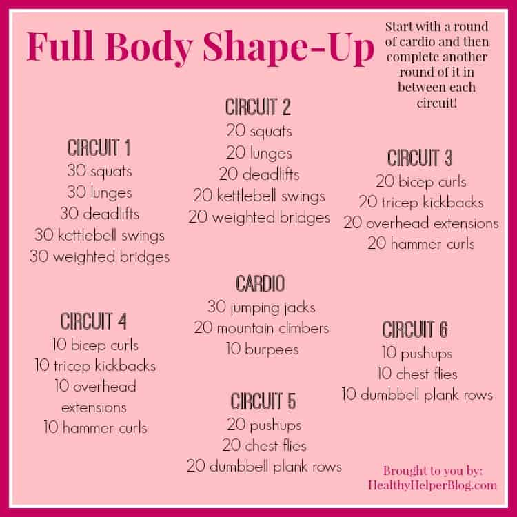Full Body Shape Up Workout
