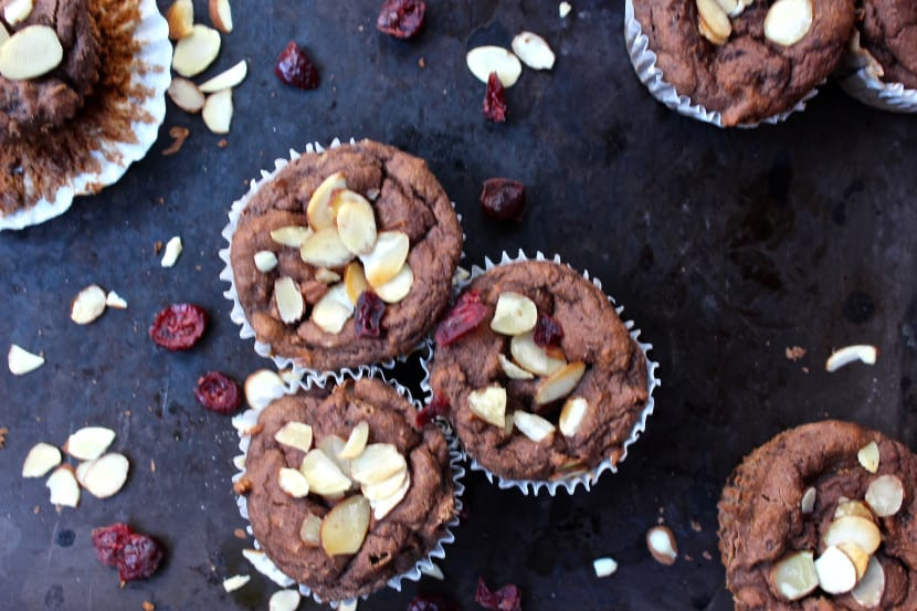 Gluten-Free Mocha Cranberry Muffins from Healthy Helper