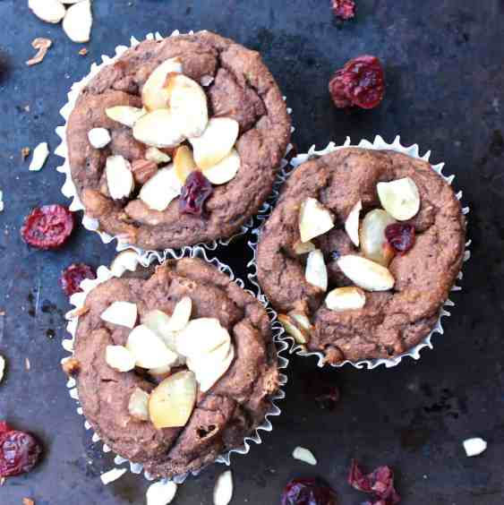 Gluten-Free Mocha Cranberry Muffins from Healthy Helper