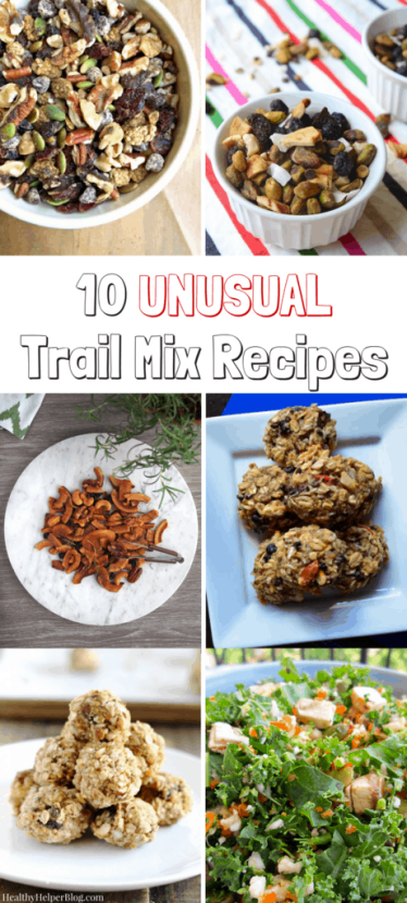 10 Unusual Trail Mix Recipes | Healthy Helper @Healthy_Helper Celebrate National Trail Mix Day with this roundup of unusual trail mix recipes! Think outside the traditional G.O.R.P (good ol' raisins and peanuts) and enter a world of amazing snack possibilities!