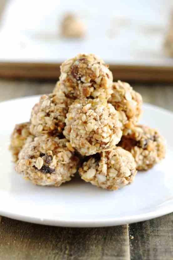 Peanut Butter Trail Mix Bites