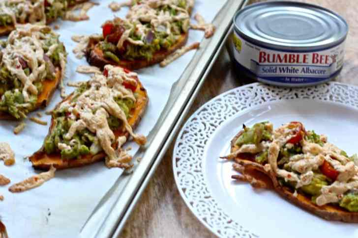 Paleo Tuna Melts on Sweet Potato Toast
