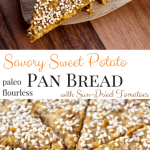Savory Sweet Potato Pan Bread with Sun-Dried Tomatoes [paleo + gluten-free]