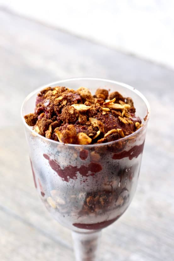 Superfood Sorbet Parfaits with Gluten-Free Muesli Crisp