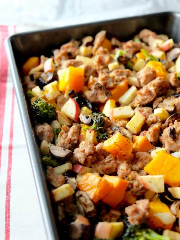 Sweet and Savory Sausage Squash Stuffing | Healthy Helper @Healthy_Helper
