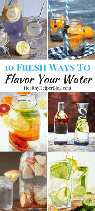 10 Fresh Ways to Flavor Your Water | Healthy Helper @Healthy_Helper Take your water from flat to FANTASTIC with these easy, homemade flavored water ideas! Hydration can be a chore. Make it more appealing with these delicious beverage options.