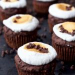 Fudge Ripple S'mores Muffins [gluten-free + sugar-free]