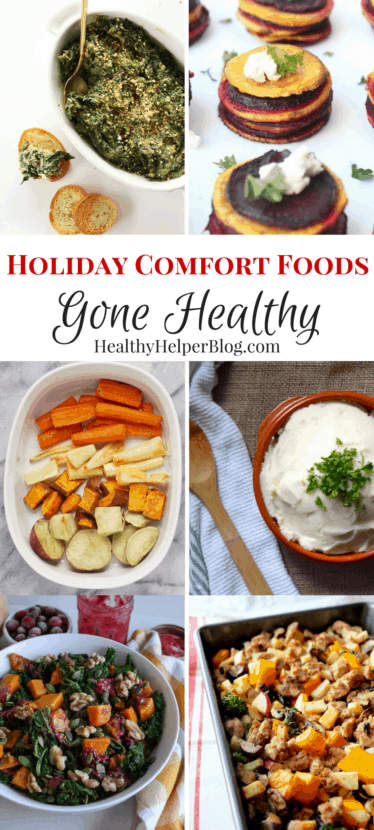 Holiday Comfort Foods Gone Healthy | Healthy Helper @Healthy_Helper All your holiday favorites made healthy and light with simple ingredient swaps, fresh foods, and easy cooking hacks! Fun twists on classic holiday dishes with all the taste AND a much better nutritional profile.