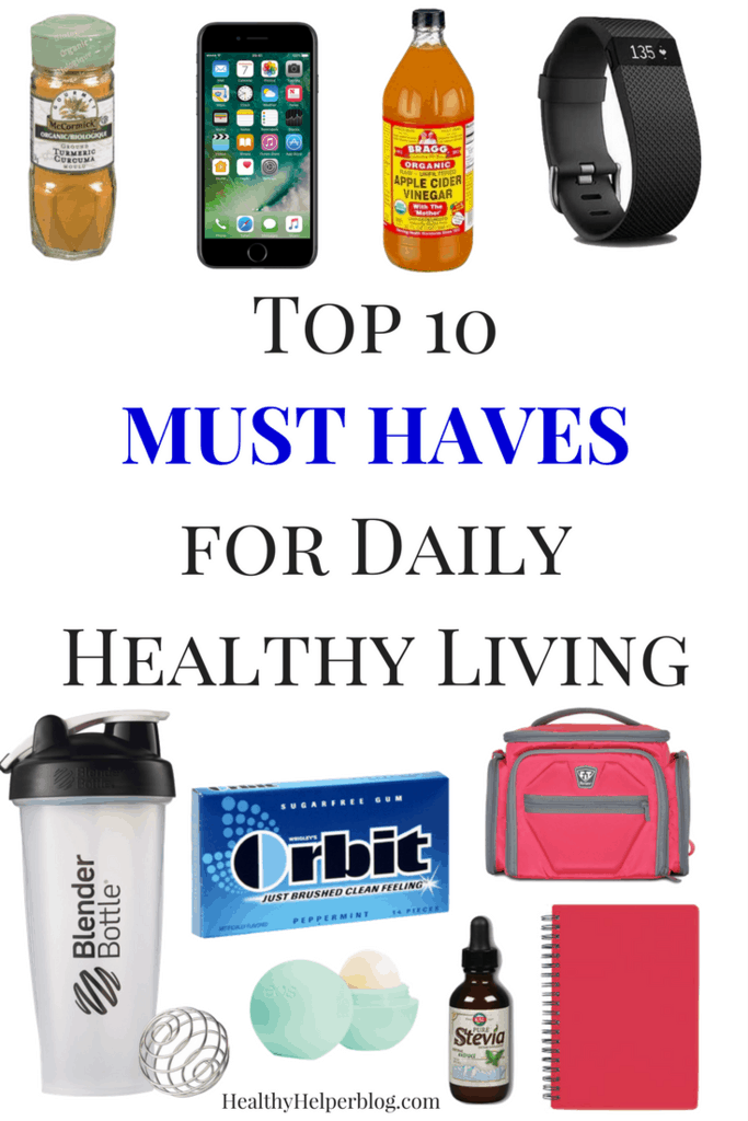 Top 10 MUST HAVES For Daily Healthy Living | Healthy Helper @Healthy_Helper  My List Of