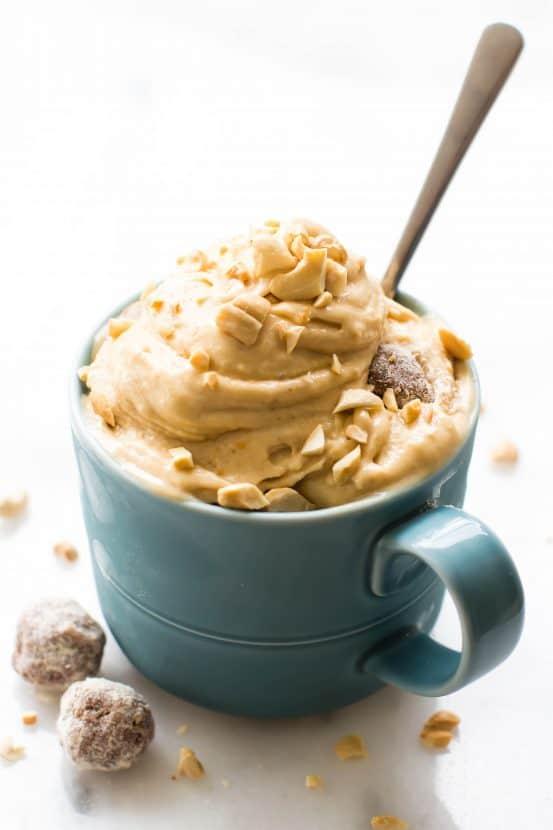 Peanut Butter Chunk Nice Cream | Healthy Helper @Healthy_Helper