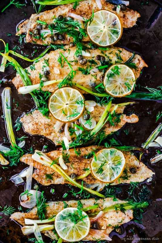 Mediterranean Baked Sole | Healthy Helper @Healthy_Helper