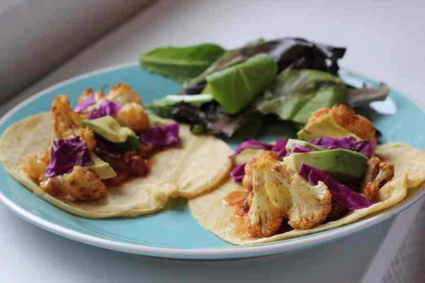 Roasted Cauliflower Tacos | Healthy Helper @Healthy_Helper